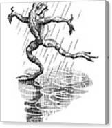 Dancing In The Rain, Conceptual Artwork Canvas Print