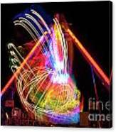 Dancing Lights  Magical Light Trails Canvas Print
