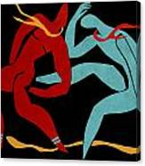 Dancing Scissors 21 Canvas Print