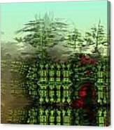 Dancing Trees On Alien Cliffs Canvas Print