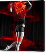 Dancing With My Hair On Fire Canvas Print