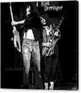 D J And R D In Spokane 1977 Canvas Print