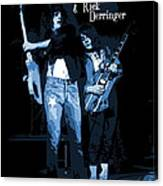 D J  And R D  Playing The Blues 1977 Canvas Print