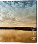 Danube River-sunset Canvas Print