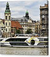 Danube Riverboat In Budapest Canvas Print