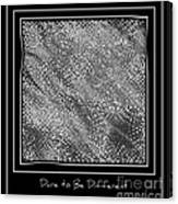 Dare To Be Different - Black And White Abstract Canvas Print