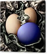 Dark Blue Easter Egg Canvas Print