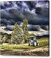 Dark Clouds Over The Farm Canvas Print