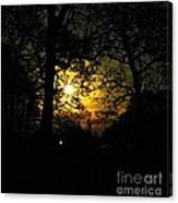 Dark Heart Moon Canvas Print