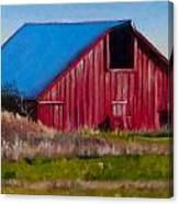 Darst Barn On West Beach Road Canvas Print