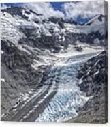 Dart Glacier Above Cascade Saddle Mount Canvas Print