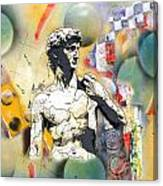 David In Space-time Canvas Print
