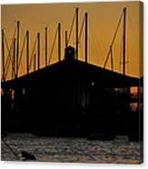 Davis Islands Yacht Club At Sunset Canvas Print
