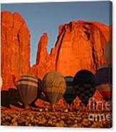 Dawn Flight In Monument Valley Canvas Print