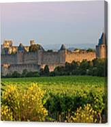 Dawn In Carcassonne Canvas Print