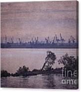 Dawn On The River Neva In Russia Canvas Print