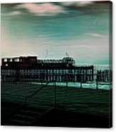 Dawn On The Seafront At Hastings Canvas Print