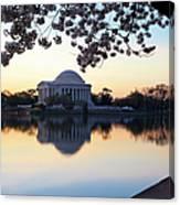 Dawn Over Jefferson Memorial Canvas Print