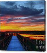 Dawn Skies At The Fishing Pier Canvas Print