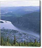 Dawson City And The Yukon River Canvas Print