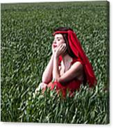 Day Dreams Woman In Red Series Canvas Print