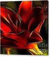 Day Lily Fractal Canvas Print