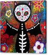 Day Of The Dead Bat Canvas Print