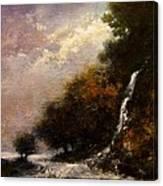 Daybreak Falls Canvas Print