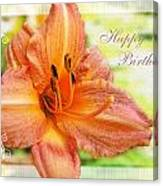 Daylily Greeting Card Birthday Canvas Print