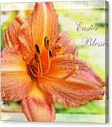 Daylily Greeting Card Easter Canvas Print