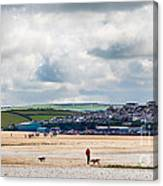 Daymer Bay Beach Landscape In Cornwall Uk Canvas Print