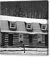 Days Of Yore Log Cabin Canvas Print