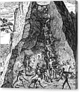 De Bry: Potosi, 1590 Canvas Print