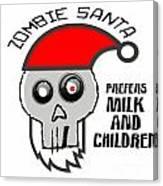 Dead Santa Eats Canvas Print