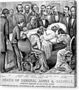 Death Of Garfield, 1881 Canvas Print