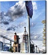 Decatur Alabama Industrial District Canvas Print