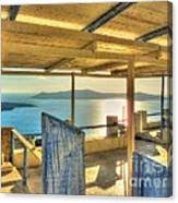 Deck View Of The Med Canvas Print