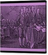 Declaration Of Independence In Pink Canvas Print