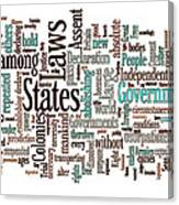 Declaration Of Independence Word Cloud Canvas Print