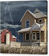 Decline Of The Small Farm Number 6 Version 2 Canvas Print