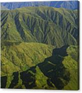 Deep Canyons Drain To Rio Apurimac Canvas Print