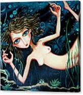 Deep Pond Dreaming Canvas Print