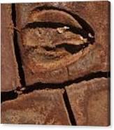 Deer Imprint In Mud Canvas Print
