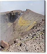 Degassing North Crater With Fumarolic Canvas Print