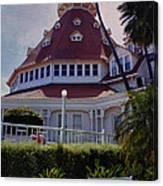 Del Coronado Hotel San Diego  Canvas Print