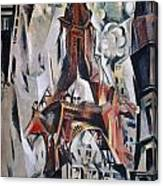 Delaunay: Eiffel Tower, 1910 Canvas Print