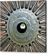 Deleon Springs Wheel Spoke Canvas Print