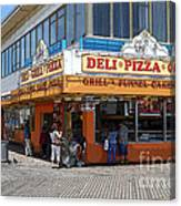 Deli Pizza Grill Funnel Cakes Canvas Print