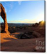 Delicate Arch Bowl Starburst Canvas Print