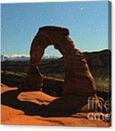 Delicate Arch Under Moonlight Canvas Print